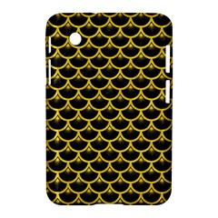 Scales3 Black Marble & Yellow Colored Pencil (r) Samsung Galaxy Tab 2 (7 ) P3100 Hardshell Case