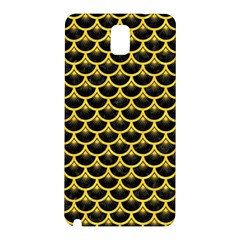 Scales3 Black Marble & Yellow Colored Pencil (r) Samsung Galaxy Note 3 N9005 Hardshell Back Case