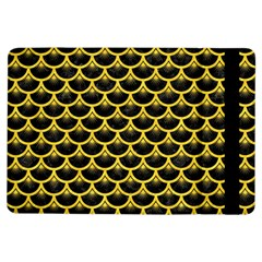Scales3 Black Marble & Yellow Colored Pencil (r) Ipad Air Flip