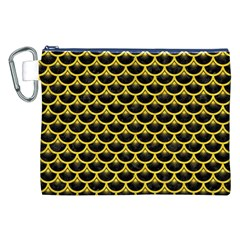 Scales3 Black Marble & Yellow Colored Pencil (r) Canvas Cosmetic Bag (xxl)