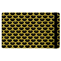 Scales3 Black Marble & Yellow Colored Pencil (r) Apple Ipad Pro 12 9   Flip Case