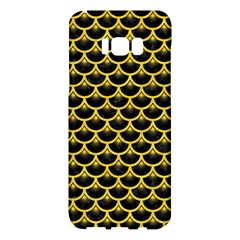 Scales3 Black Marble & Yellow Colored Pencil (r) Samsung Galaxy S8 Plus Hardshell Case