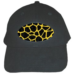 Skin1 Black Marble & Yellow Colored Pencil Black Cap