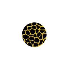 Skin1 Black Marble & Yellow Colored Pencil 1  Mini Buttons