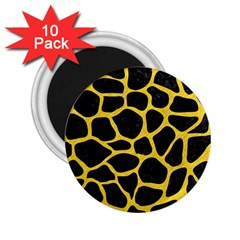 Skin1 Black Marble & Yellow Colored Pencil 2 25  Magnets (10 Pack)