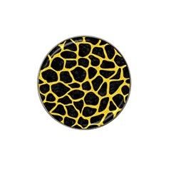 Skin1 Black Marble & Yellow Colored Pencil Hat Clip Ball Marker (10 Pack)