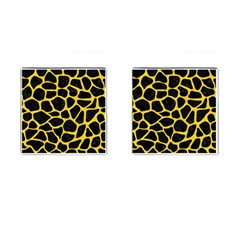Skin1 Black Marble & Yellow Colored Pencil Cufflinks (square)