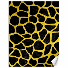 Skin1 Black Marble & Yellow Colored Pencil Canvas 12  X 16