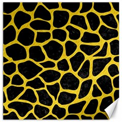 Skin1 Black Marble & Yellow Colored Pencil Canvas 16  X 16