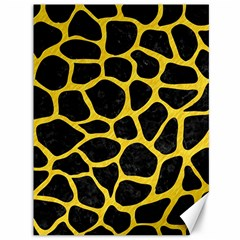 Skin1 Black Marble & Yellow Colored Pencil Canvas 36  X 48