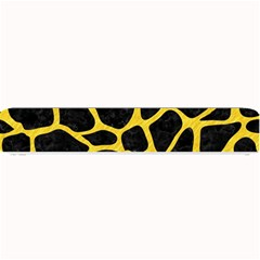 Skin1 Black Marble & Yellow Colored Pencil Small Bar Mats