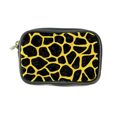Skin1 Black Marble & Yellow Colored Pencil Coin Purse