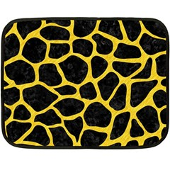 Skin1 Black Marble & Yellow Colored Pencil Double Sided Fleece Blanket (mini)