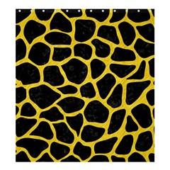 Skin1 Black Marble & Yellow Colored Pencil Shower Curtain 66  X 72  (large)