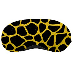 Skin1 Black Marble & Yellow Colored Pencil Sleeping Masks