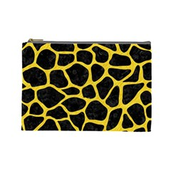 Skin1 Black Marble & Yellow Colored Pencil Cosmetic Bag (large)
