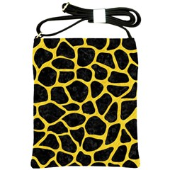 Skin1 Black Marble & Yellow Colored Pencil Shoulder Sling Bags