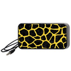 Skin1 Black Marble & Yellow Colored Pencil Portable Speaker