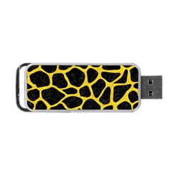 Skin1 Black Marble & Yellow Colored Pencil Portable Usb Flash (two Sides)