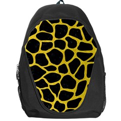 Skin1 Black Marble & Yellow Colored Pencil Backpack Bag
