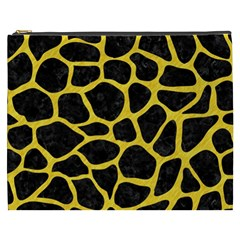 Skin1 Black Marble & Yellow Colored Pencil Cosmetic Bag (xxxl)