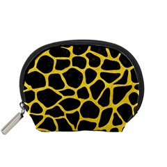 Skin1 Black Marble & Yellow Colored Pencil Accessory Pouches (small)