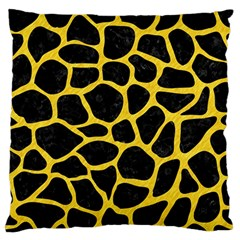 Skin1 Black Marble & Yellow Colored Pencil Standard Flano Cushion Case (two Sides)