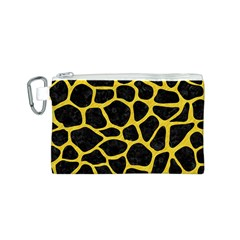 Skin1 Black Marble & Yellow Colored Pencil Canvas Cosmetic Bag (s)