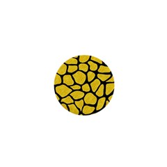 Skin1 Black Marble & Yellow Colored Pencil (r) 1  Mini Buttons