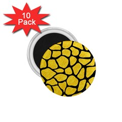 Skin1 Black Marble & Yellow Colored Pencil (r) 1 75  Magnets (10 Pack)