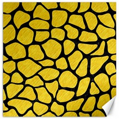 Skin1 Black Marble & Yellow Colored Pencil (r) Canvas 16  X 16