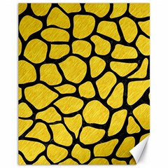 Skin1 Black Marble & Yellow Colored Pencil (r) Canvas 11  X 14