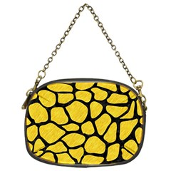 Skin1 Black Marble & Yellow Colored Pencil (r) Chain Purses (one Side)