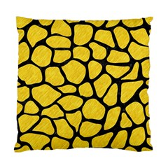Skin1 Black Marble & Yellow Colored Pencil (r) Standard Cushion Case (two Sides)