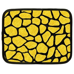 Skin1 Black Marble & Yellow Colored Pencil (r) Netbook Case (xl)