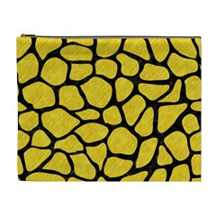 Skin1 Black Marble & Yellow Colored Pencil (r) Cosmetic Bag (xl)