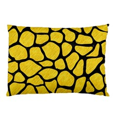 Skin1 Black Marble & Yellow Colored Pencil (r) Pillow Case (two Sides)
