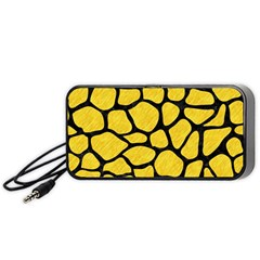 Skin1 Black Marble & Yellow Colored Pencil (r) Portable Speaker