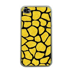 Skin1 Black Marble & Yellow Colored Pencil (r) Apple Iphone 4 Case (clear)