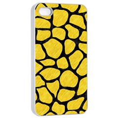 Skin1 Black Marble & Yellow Colored Pencil (r) Apple Iphone 4/4s Seamless Case (white)