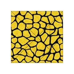 Skin1 Black Marble & Yellow Colored Pencil (r) Acrylic Tangram Puzzle (4  X 4 )