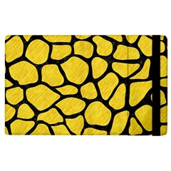 Skin1 Black Marble & Yellow Colored Pencil (r) Apple Ipad 2 Flip Case