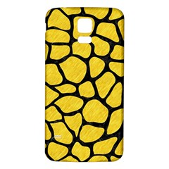 Skin1 Black Marble & Yellow Colored Pencil (r) Samsung Galaxy S5 Back Case (white)