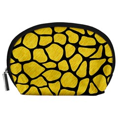 Skin1 Black Marble & Yellow Colored Pencil (r) Accessory Pouches (large)