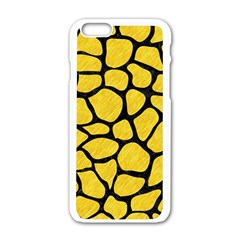 Skin1 Black Marble & Yellow Colored Pencil (r) Apple Iphone 6/6s White Enamel Case