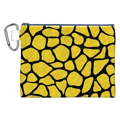 Skin1 Black Marble & Yellow Colored Pencil (r) Canvas Cosmetic Bag (xxl)