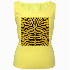 Skin2 Black Marble & Yellow Colored Pencil Women s Yellow Tank Top