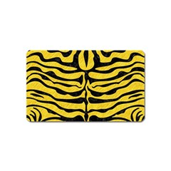 Skin2 Black Marble & Yellow Colored Pencil Magnet (name Card)