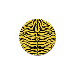 Skin2 Black Marble & Yellow Colored Pencil Golf Ball Marker (4 Pack)