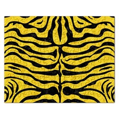 Skin2 Black Marble & Yellow Colored Pencil Rectangular Jigsaw Puzzl